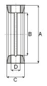 uszczelka model 4 z rowkiem